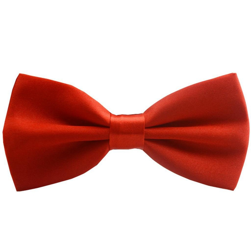 Adjustable Size Satin For Men Women Bright Red