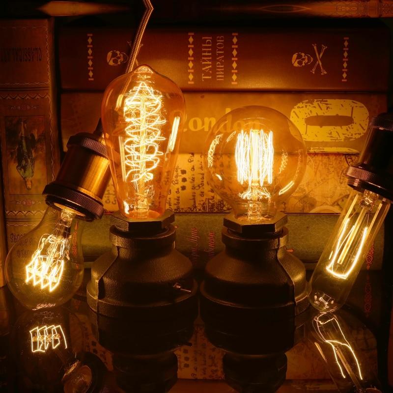 Купить с кэшбэком Retro Vintage Edison bulb E27 Ampoule Vintage Bulb 40W 220V Edison Lamp Filament Incandescent Light bulb For Home Decor