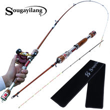 Sougayilang 1.2m Saltwater 2 Sections Carbon Fiber Fishing Rod Raft Rod Boat Fishing Rod Fishing Tackle Casting Rod Pole Pesca(China)