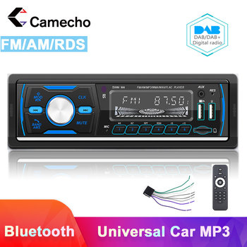 Camecho 1Din Car Radio FM AM RDS Car Stereo DAB Digital Autoradio Bluetooth TF Card Universal For VW Toyota Polo Nissan Hyundai image