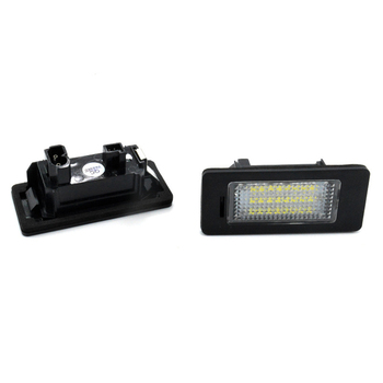 A Pair Of Car Led Headlights License Plate Lights Signal Lamp For Bmw E39 E81 E82 X5 X1 E60 E90 E92 E93 image