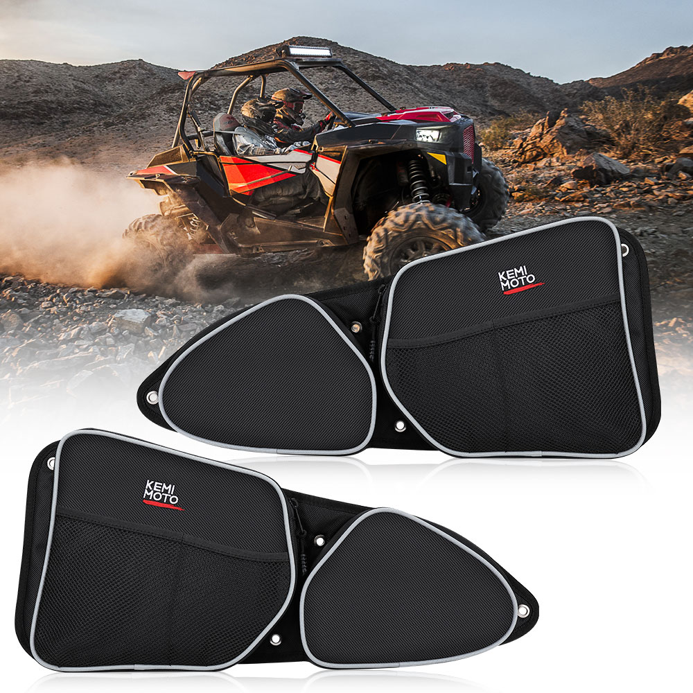 UTV Passenger Driver Side Door Bag For Polaris RZR XP1000 900XC S900  Storage Bag Knee Pad 2014 2015 2016 2017 2018
