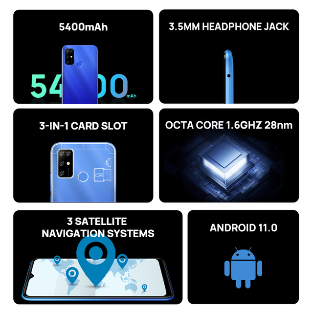 New DOOGEE X96 Pro Cellphones 4GB RAM 64GB ROM Octa Core 13MP Quad Camera Smartphones Celular Mobile Phone Android 11 5400mAh 2
