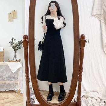 new S-XL Plus size Autumn Dress Girls Boho Party Female Vintage Dress Long  Sleeveless sundress  Women Dresses Long Robe Vestido autumn summer new women shirt dress long sleeved female dresses slim fashion party office lady sundress plus size casual rob