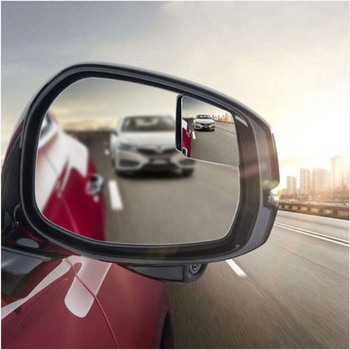 1 Pair Car 360 Degree Framless Blind Spot Mirror Wide Angle Sector Convex Side Blindspot Rearview Parking