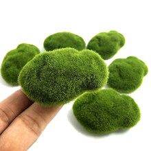 Поддельные мох поддельный камень стекающийся камень поддельные газон микро пейзаж суккулент DIY украшения