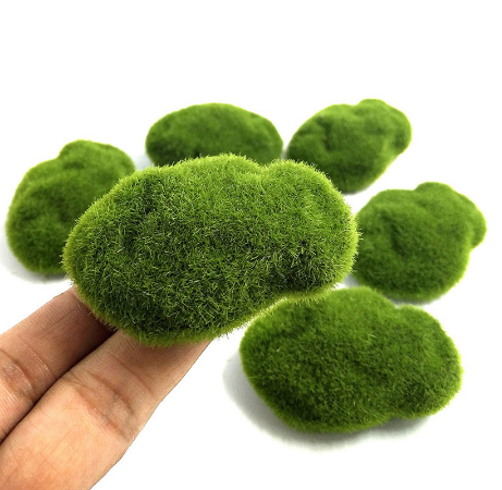 Fake fake moss moss fake rock flocking stone fake lawn micro landscape succulent DIY decoration