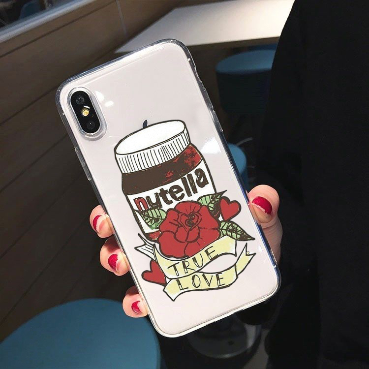 Nutella Girl Kawaii Print Soft Phone Case Cover for Samsung A10 A20 A30 A50 A70 A80 A90 Galaxy Cases for S8 S9 S10 PLUS Quality image