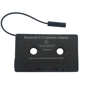 Aux Adapter Car Bluetooth 5.0 + EDR Audio Cassette to Aux Adapter For iPhone MP3 AUX Cable CD Player Jack Plug