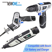 NEWONE 12V Grinding and Polish Electric Rotary Tool 2-Speed Drill Reiprocating saw compatible with Bosc'h's battery charger