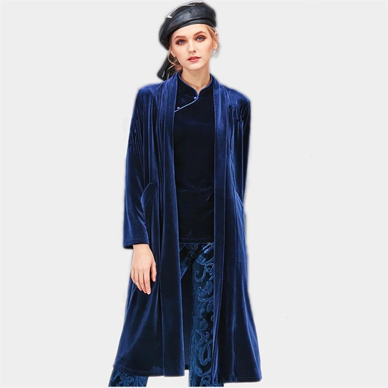 Korean styel Women Winter Long velour coat Outwear velvet Coat Loose Plus Size Cardigans Elegant Spring Autunm coat M-7XL 8XL
