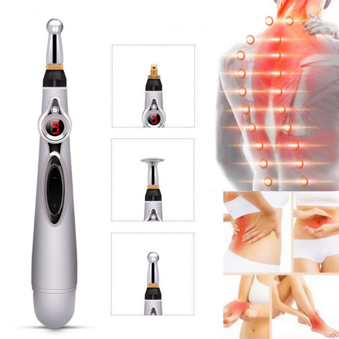 Meridian Laser Accupuncture Pen Massage Accupuncture Laser Pen Accupuncture Stimulator Pen Accupuncture Points Detector