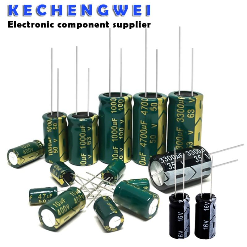 10V 16V 25V 35V 50V 400V High Frequency Low ESR Aluminum Capacitor 100UF 220UF 330UF 470UF 680UF 1000UF 1500UF 2200UF 3300UF