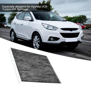 Car Air Filter Interior Fiber Cloth Replacement For IX35 Hyundai Tucson Kia image