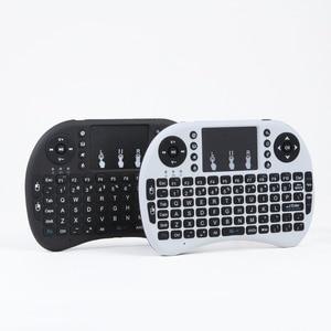 Image 5 - Bunte Backlit Russische Englisch Air Maus Mini Wireless Keyboard 2,4 GHz Touchpad Hintergrundbeleuchtung i8 Luft Maus für Android TV Box PC