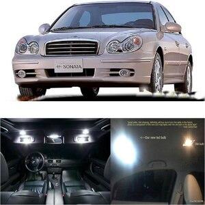 Światła samochodowe LED wnętrza dla Hyundai nowa sonata EF pokój kopuła mapa czytanie stóp lampka drzwi wolne od błędów 12pc