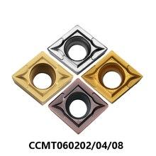 Мицубиси CCMT060202 CCMT060208 CCMT060204 NX2525 UE6020 US735 сплаве vp15tf. UTI20T AP25N CCMT твердосплавные режущие вставки 100% оригинал