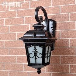 American-Style European Style Retro Minimalist Modern Outdoor Waterproof Wall Lamp Living Room Balcony Hallway Corridor Garden C