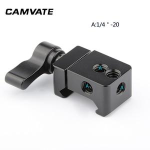 """Image 4 - CAMVATE kamera standart NATO ray kelepçesi hızlı bırakma Swat ray kelepçesi 1/4 """" 20 montaj noktaları DSLR kamera kafesi/kolu"""