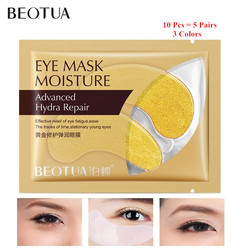5Pairs Beauty Gold Eye Mask Crystal Collagen Eyes Patches Anti Aging Wrinkle Acne Moisturing Skin Care Patch