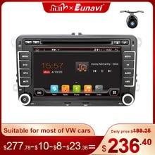 Eunavi 2 Din Android Car DVD Radio Multimedia Player GPS for VW GOLF 5 6 Polo Bora Jetta Passat b6 b7 Tiguan Subwoofer Autoradio