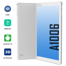 ANRY 1006 10 Inch Tablet Pc 4GB RAM+32GB ROM Android 7.0 Original 3G Phone Call Tab Dual SIM Card Quad Core WiFi Tablet 10 1 inch official original 3g phone call google android 7 0 quad core ips pc tablet wifi rom 32gb pcs 9 10 android tablet pc