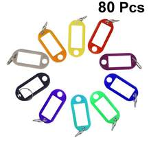 80Pcs Schlüsselanhänger Durable Bequem Praktischen Schlüssel Tags Mit Ring für Hause