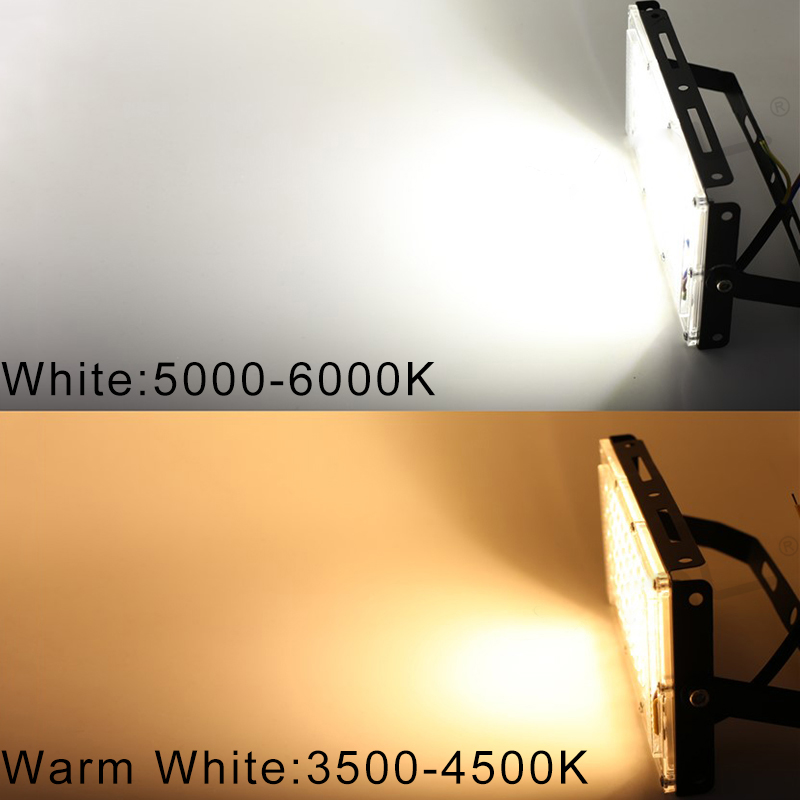 LED Flood Light 50W AC 220V 240V Outdoor Lighting Waterproof IP65 Floodlight LED Spotlight Big Power Fixture Reflector 3