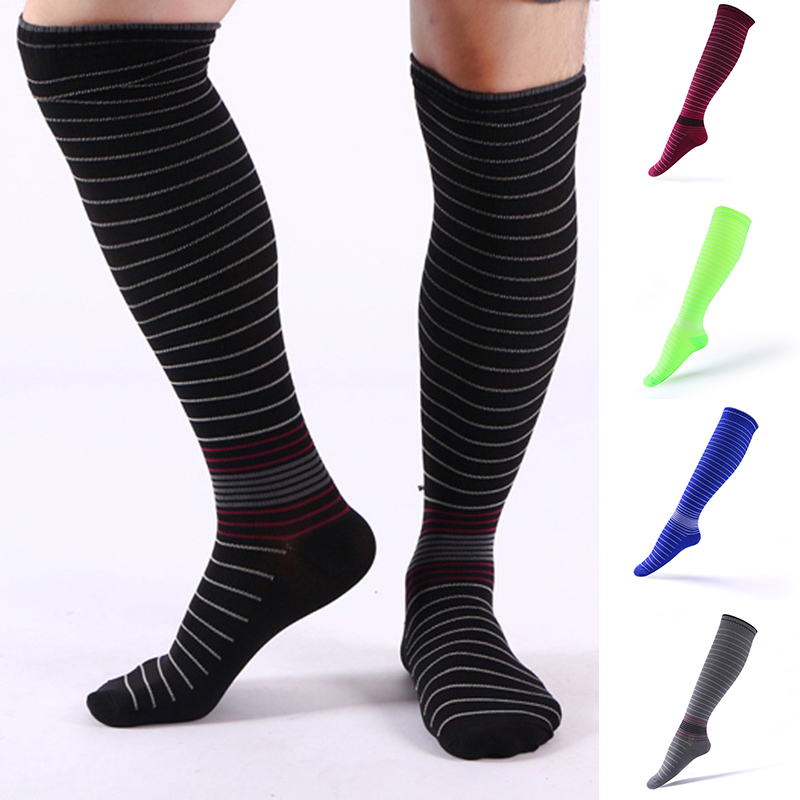 Anti Fatigue Pain Relief Knee Socks Unisex Sports Socks Men Women Compression Stockings Pressure Varicose Vein Stocking 2019 Hot