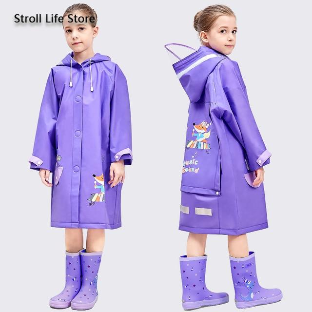 Yellow Boy Raincoat Kids Rain Poncho Cute Cartoon Plastic Suit Rain Coat Pants Set Windbreaker Waterproof Coat Impermeable Gift 5