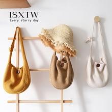 ISXTW Bags for Women Knit Hobo Sling Bag Winter Casual Bohemian Chic Shoulder Crochet Soft Fashion Messenger /B16
