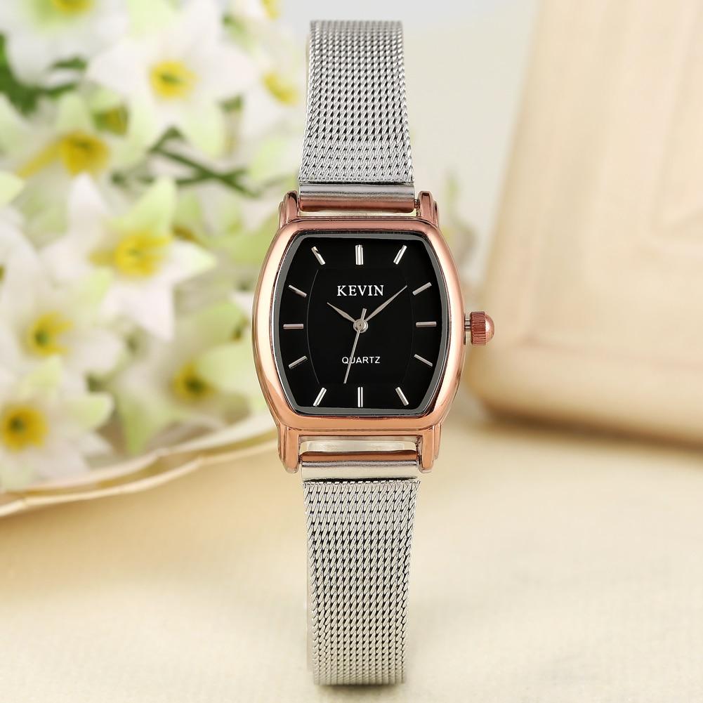 KEVIN Casual Men's Watch Stainless Steel Band Artificial Quartz Wrist Watch For Girls Elegant Watch For Women Men