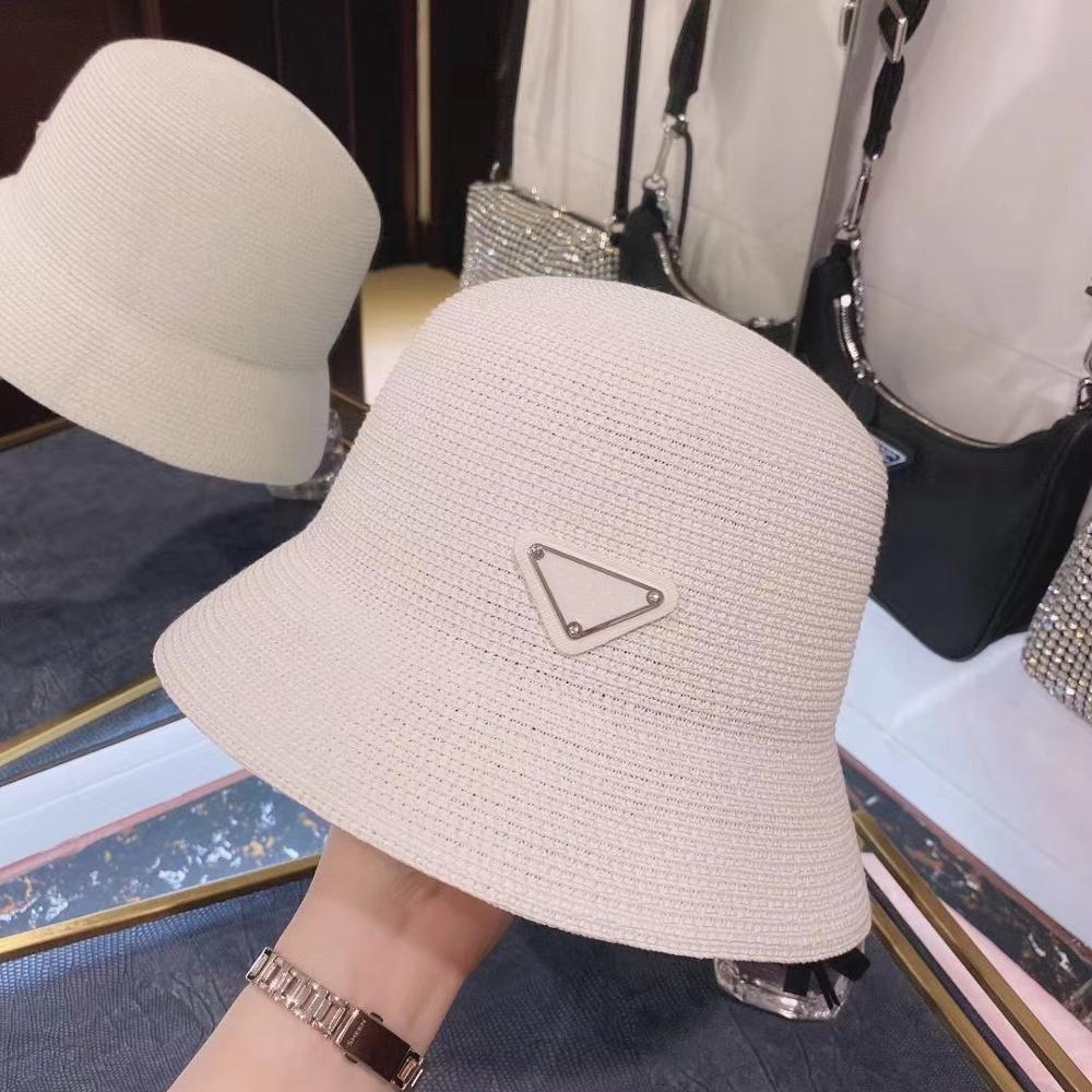 2020 New Style Luxury Straw  Hats Women Fashion Brand Designer Basin Hat Nylon Sun Cap Black Outdoor Travel Hat Men