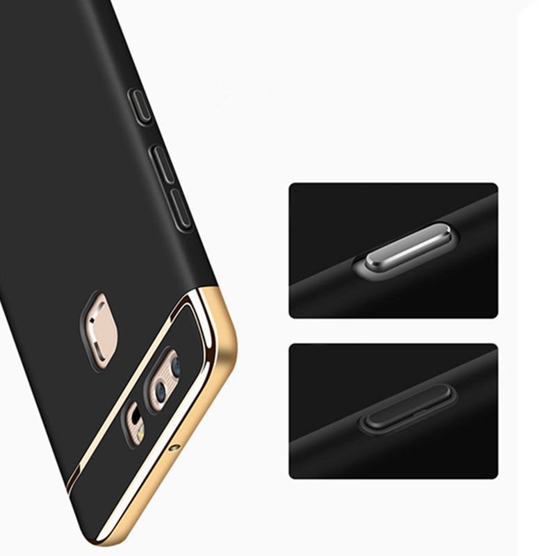 Luxury Gold Plating 360 Protection Case For Huawei P10 Lite Plus Y7 Y6 Y5 Prime 2018 Matte Hard Silicon Back Cover On Y7 Y6 2019 in Fitted Cases from Cellphones Telecommunications