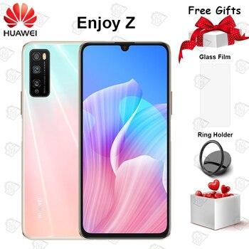 Перейти на Алиэкспресс и купить Huawei Enjoy Z 5G мобильный телефон 6,5 дюймов 6 ГБ оперативной памяти, 64 Гб встроенной памяти, MT6873 Octa Core Android 10 функцией отпечатков пальцев (Fingerprint ID 4000...