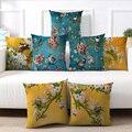 Сливы наволочки Фламинго Подушка вишневого цвета крышка для домашних стульев, диванных украшения желтый наволочки для подушек