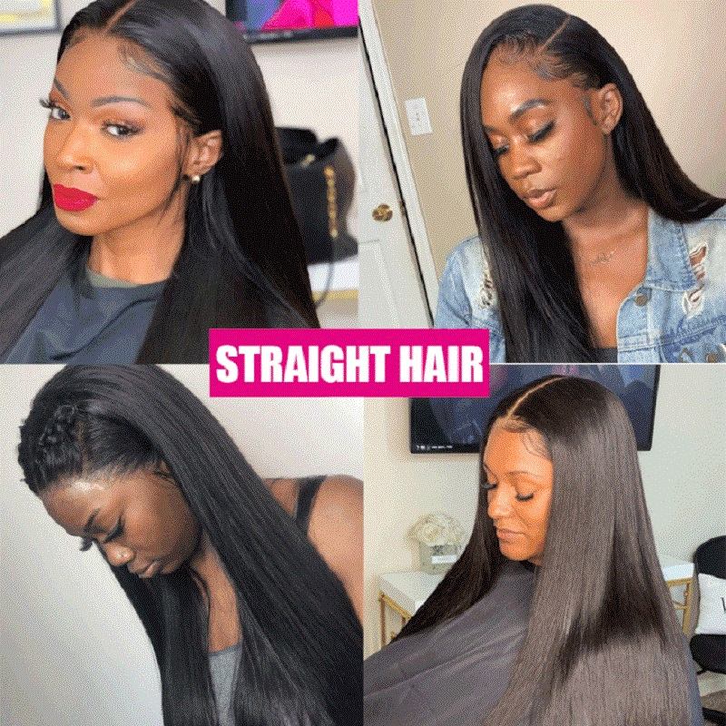 Straight Lace Front  Hair Wig 180% Density Lace Front Wig Arabella Pre Plcuked 13*4 Lace Front  Wigs 4