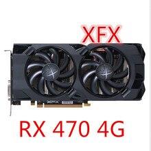 Б/у видеокарты RX 470 XFX 4 Гб 256bit GDDR5 для настольных ПК, игровые видеокарты, не Майнинг RX 470 4G