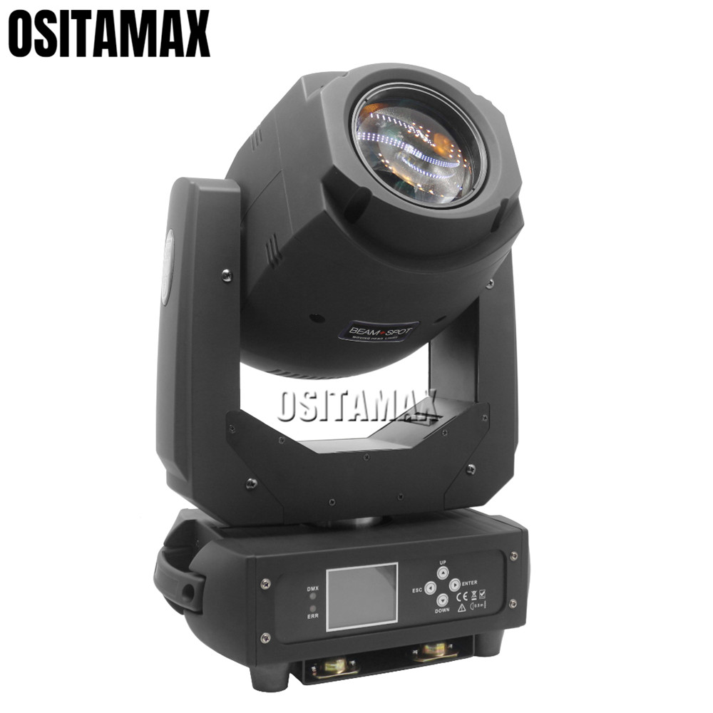 200w LED Stage Light Moving Head Spot Zoom Light 3 Prism Gobo Color Wheel Sound Rainbow Effect Party DJ Disco Lighting Wedding