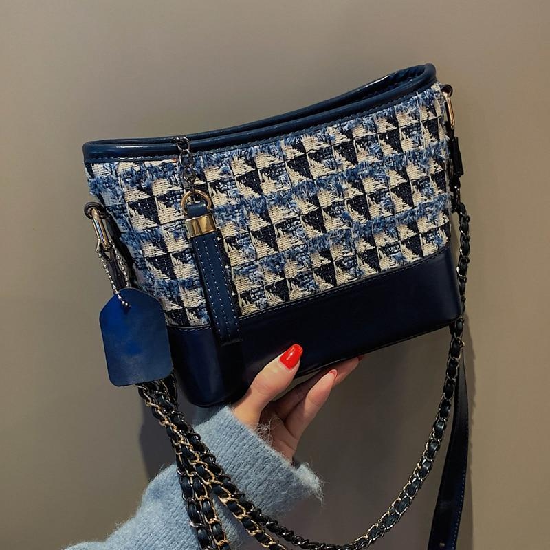 High Quality Bag Elegant Women's Bag Autumn Winter 2020 New Fashion Korean Version Versatile Messenger Bag Chain Fashion Bag