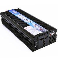 Convertidor de corriente para coche, inversor de voltaje de CC 12V a CA 220V, potencia de 2000W, transformador de onda sinusoidal modificada,on cargador de automóvil USB para teléfono, tableta, ordenador portátil
