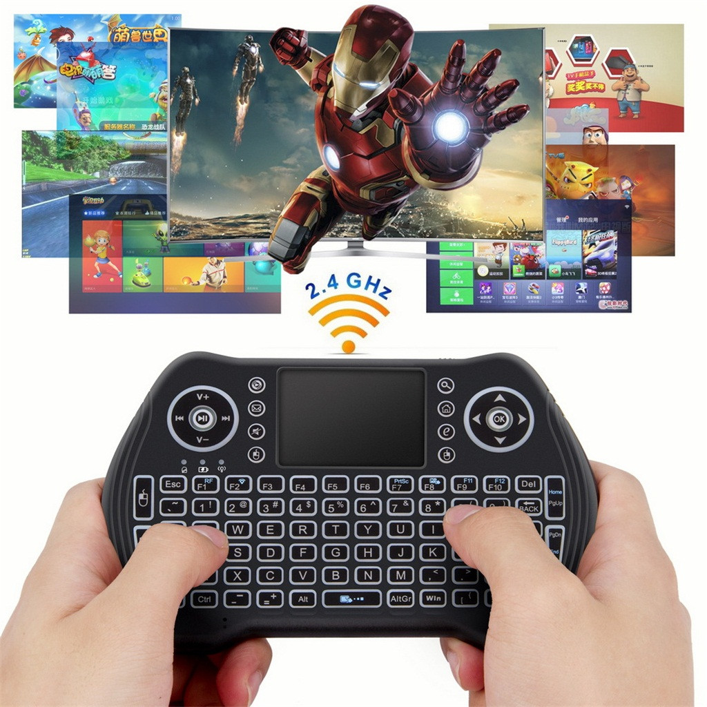 Ouhaobin Backlit Keyboard MT10 2.4GHZ Mini Wireless Bluetooth Keyboard Touchpad For Android For Game For Notebook