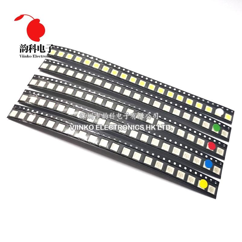 500pcs=5colors x 100pcs 5050 5730 1210 1206 0805 0603 0402 SMD LED Diode Kit Red - Green - Blue - Wh