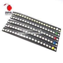 Kit de diodo LED rojo/Verde/azul/blanco/amarillo, 500 Uds. = 5 colores x 100 Uds. 5050 5730 1210 1206 0805 SMD