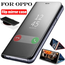 Smart Mirror Flip Case For OPPO Realme 7 7i 6 6i 5 5i Pro A5 A9 2020 A52 A72 A92 A53 A31 C11 C12 C3 Reno 2 2Z 3 4 5 Pro Cover