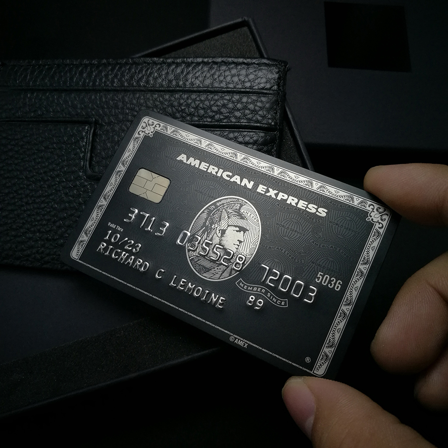 Metal card black card and production American express gift card 3