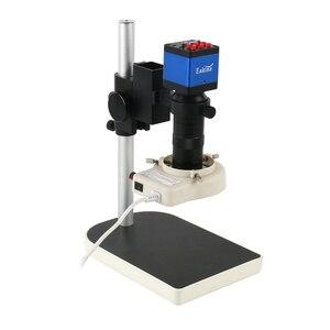 Image 2 - 1080p digital hdmi vga microscópio industrial conjuntos de câmera 130x c montagem lente + led anel luz solda telefone pcb ic reparação ferramentas