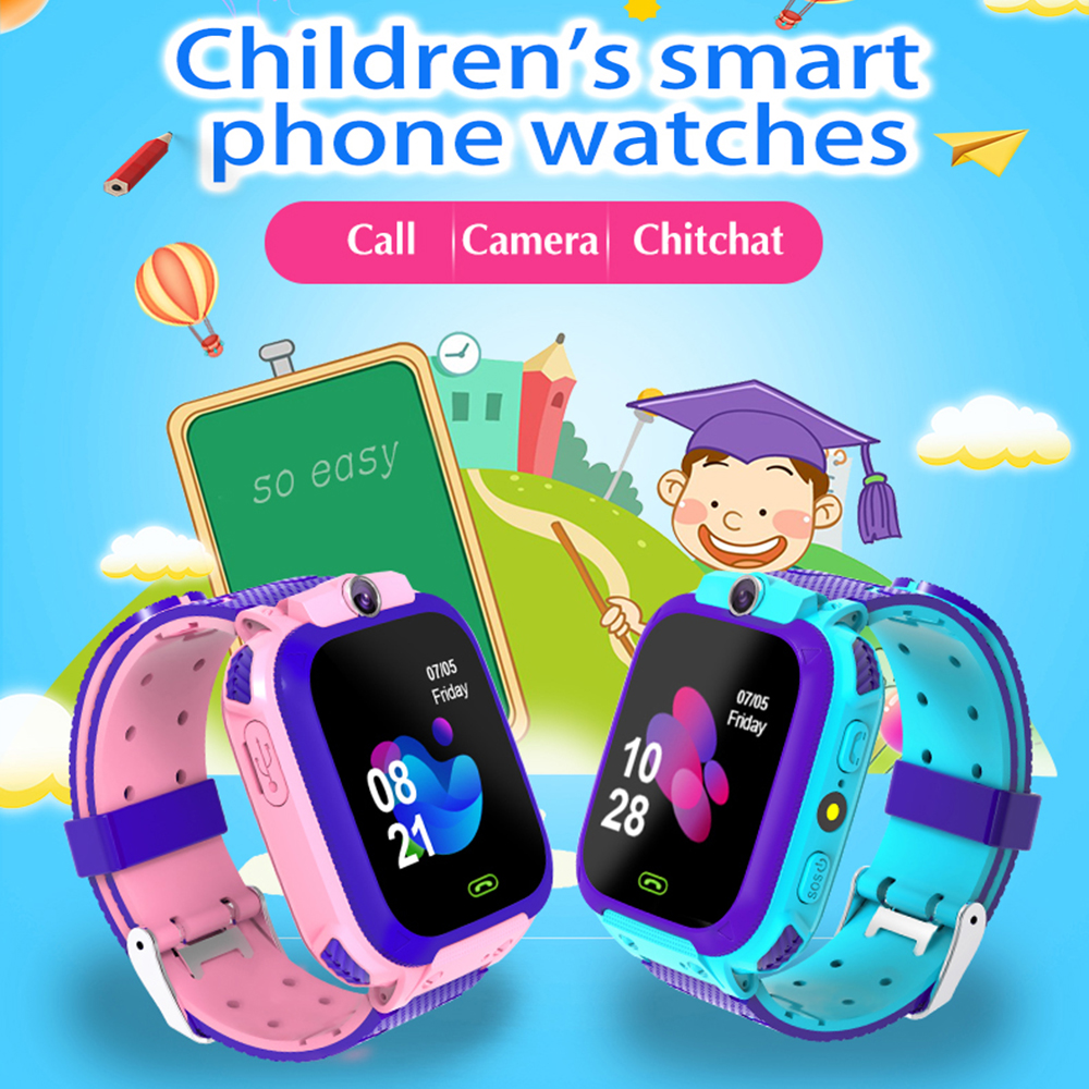 Q12 Waterproof Kids Smart Watch SOS Antil-lost Smartwatch Baby 2G SIM Card Clock Call Location Tracker Smartwatch For Kid Gift