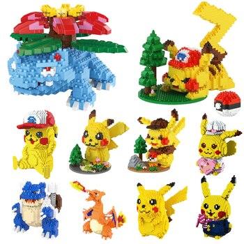 Pokemon Building Blocks Toys Charizard Mini Bricks Pikachu Charizard Anime Diamond Doll Pocket Monster Legoied Children Toy 1