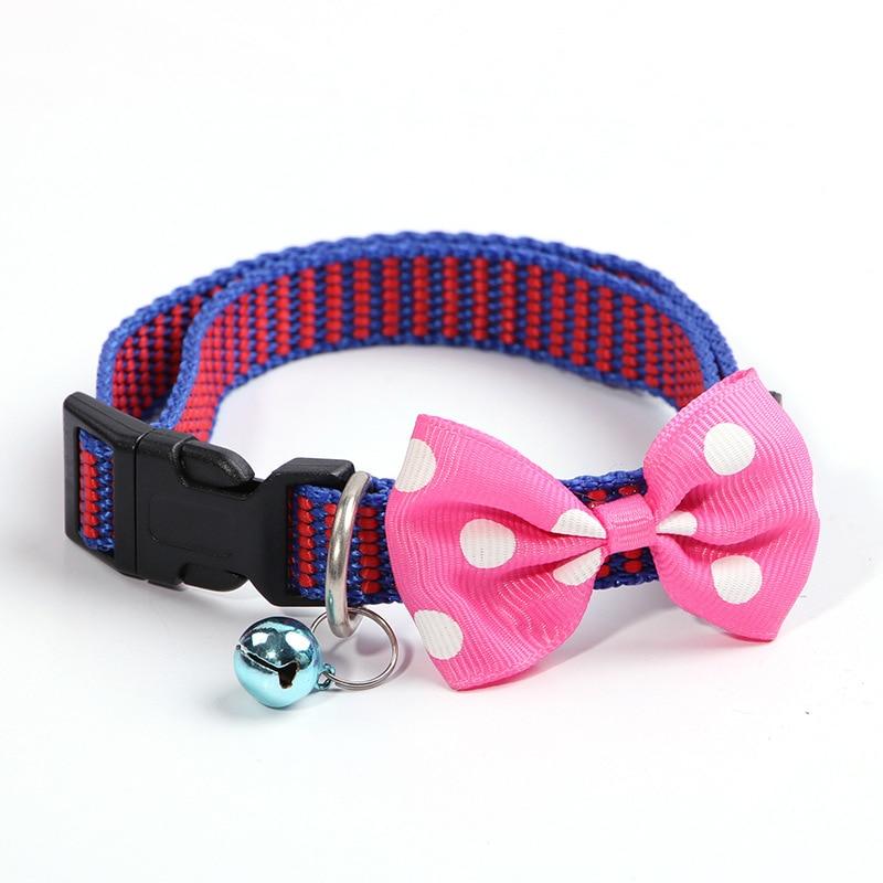 1.5 Bow Nylon Collar Dog Traction High Quality Buckle Pet Collar